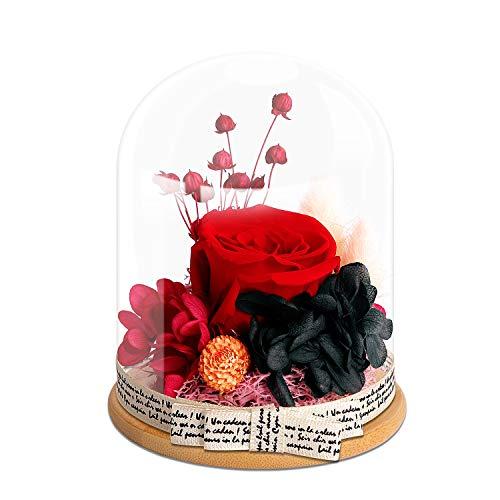 KING DOO Handmade Preserved Real Rose, Upscale Flowers,...
