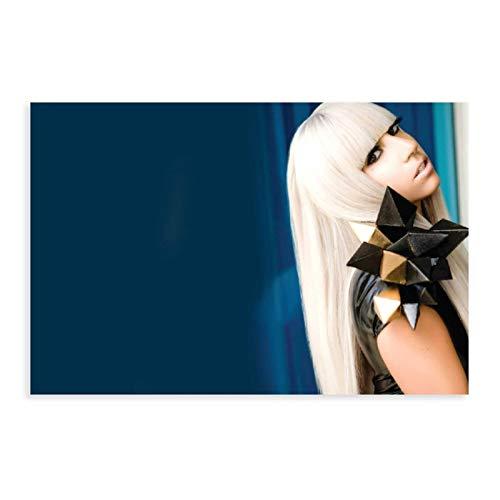 Poster sur toile Lady Gaga - Décoration murale - Pour salon, chambre à coucher - 30 x 45 cm - Sans cadre