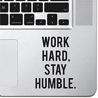 "Work Hard Motivational Macbook Sticker Decal MacBook Pro Decal Air 13"" 15"" 17"" Keyboard Mousepad Trackpad Laptop Inspirati..."