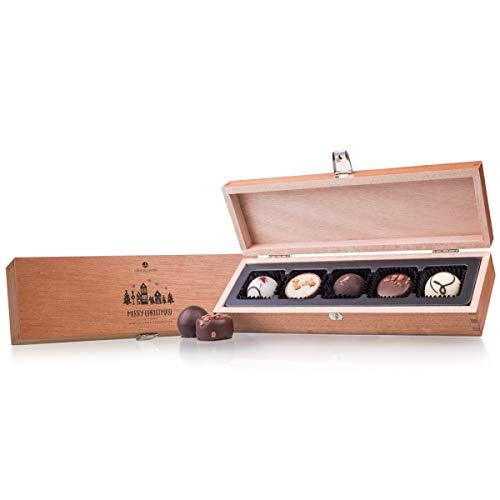 Frohe Weihnachten Deluxe Pralinen - vier handgemachte Weihnachtspralinen - Weihnachten - Schokolade - Geschenk