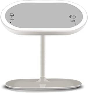Desktop led Vanity Mirror with Light 360 Degree rotatable Desk lamp Mirror USB Charging Mirror Product Size: 220 * 226 * 148MM