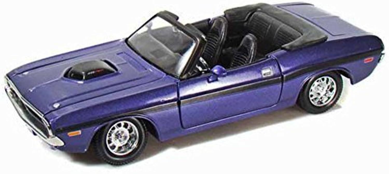 Maisto 1970 Dodge Challenger R T Congreenible 1 24 Scale Diecast Model Car Purple by Maisto