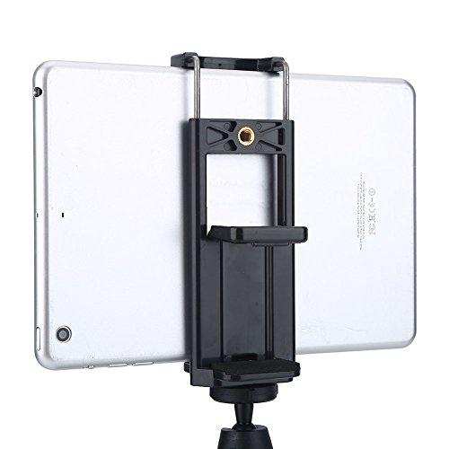 Staffa di Montaggio Universale per Supporto del Telefono per Tablet con Adattatore per treppiede 2 in 1 Adatta al treppiede, monopiede, Selfie