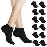 Toocool - Stock 12 paia calzini alla caviglia fantasmini uomo donna cotone ZA-115 [Taglia unica,NERO DONNA]