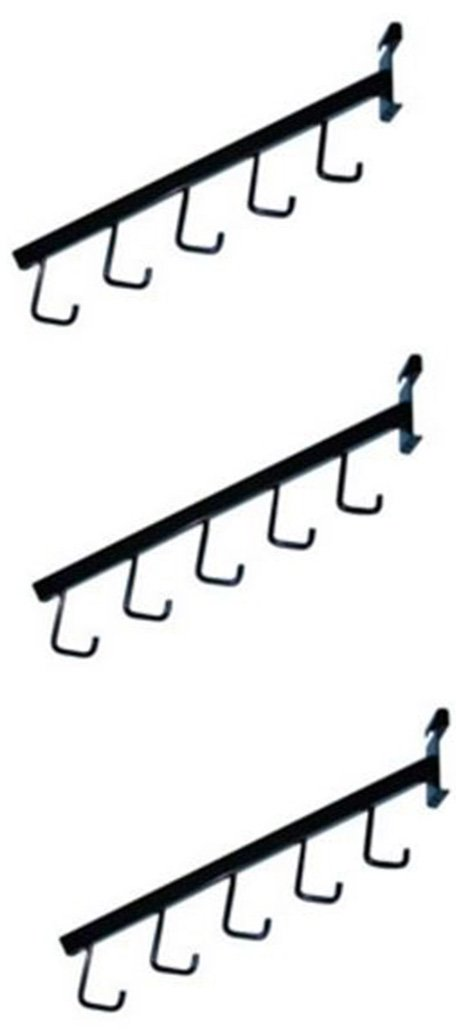 Financial sales sale Brand Cheap Sale Venue Waterfall Square Tube 5 Hook For Grid of Black Lot 3