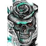 JHGJHK Arte Creatividad Horror cráneo Pintura al óleo Vacaciones Arte de la Pared Decoraciones Sala de Estar decoración de la Sala (Figura 12)