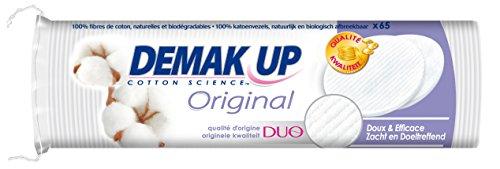 Demak'Up Original - Coton à démaquiller Disque - lot de 5 paquets de 65 cotons