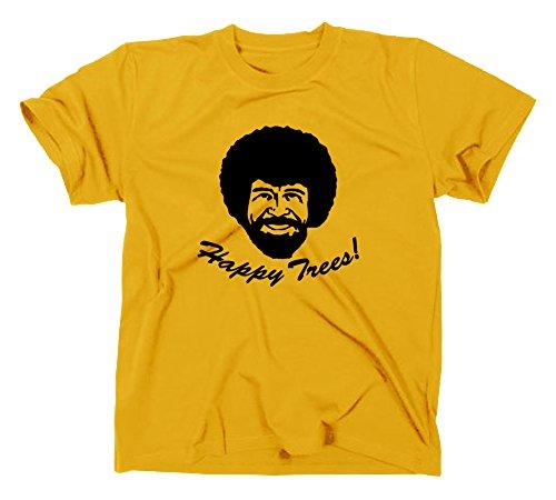 Bob Ross Happy Trees T-Shirt, L, gelb