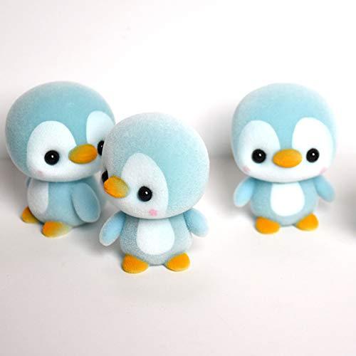 Nosii Pinguin Kunststoff Samt Spielzeug Pinguin Puppe Mini Niedlichen Kunststoff Plüsch Oberfläche Tier Puppe Baby Hand Spielzeug (Color : Blau)