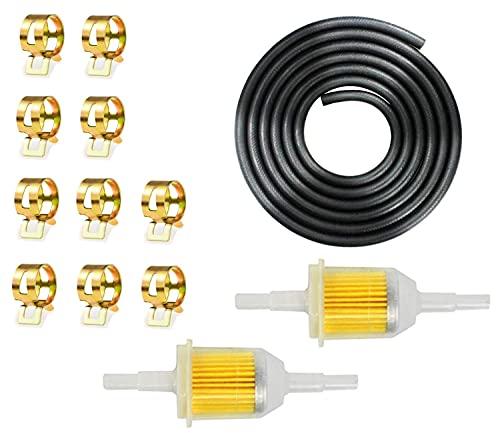 Benzinschlauch Benzinfilte 8 Stück Kraftstoffleitung, Vakuumröhre Benzinschlauch-Kit Schlauchschellen, für PKW Auto Motorrad Rasenmäher Roller