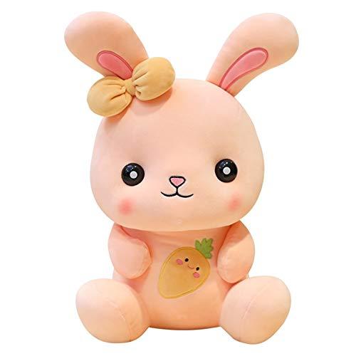 YUNCHENG Critters Kreative Spielzeug Nette Bunny Puppe 22/35 / 50cm Kinderfeiertagsgeschenk Daunen Baumwolle Gefüllte Plüschspielzeug (Size : Orange-22CM)