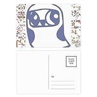 鳥類保護動物のペットのかわいい形の心 公式ポストカードセットサンクスカード郵送側20個