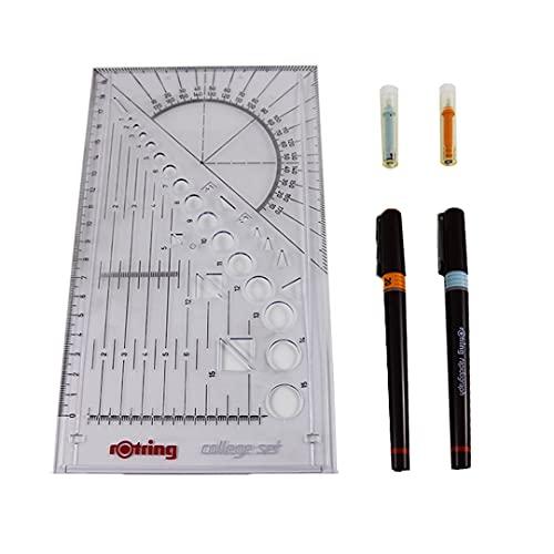 College - Juego de bolígrafos de punta redonda