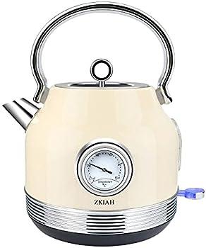 ZKIAH 1.7L Stainless Steel Electric Tea Kettle