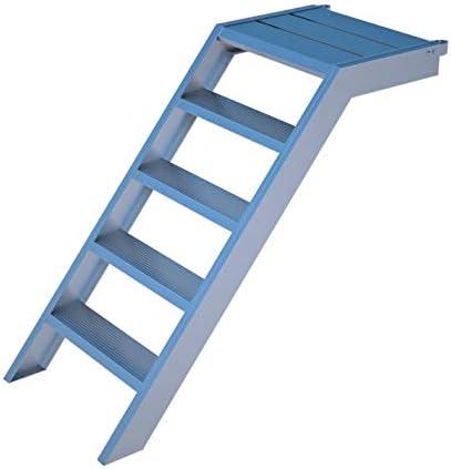 Escalera de pedestal de aluminio para 1 m de altura, 58 cm de ancho, para jardín, piscina, entrada a edificios