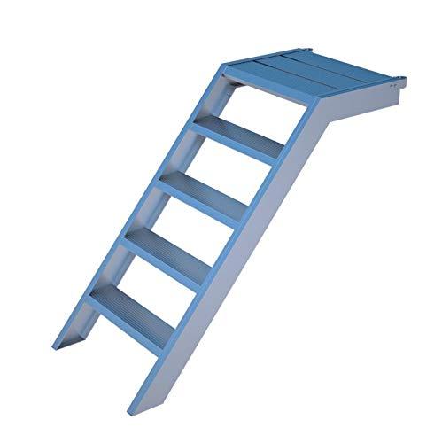 Escalera de pedestal de aluminio para 1 m de altura, 58 cm de ancho, para jardín, piscina, acceso a edificios