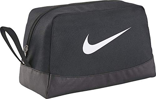Nike Club Team Swoosh Toiletry Bag Bolsa de aseo, 27 cm, Negro (White)