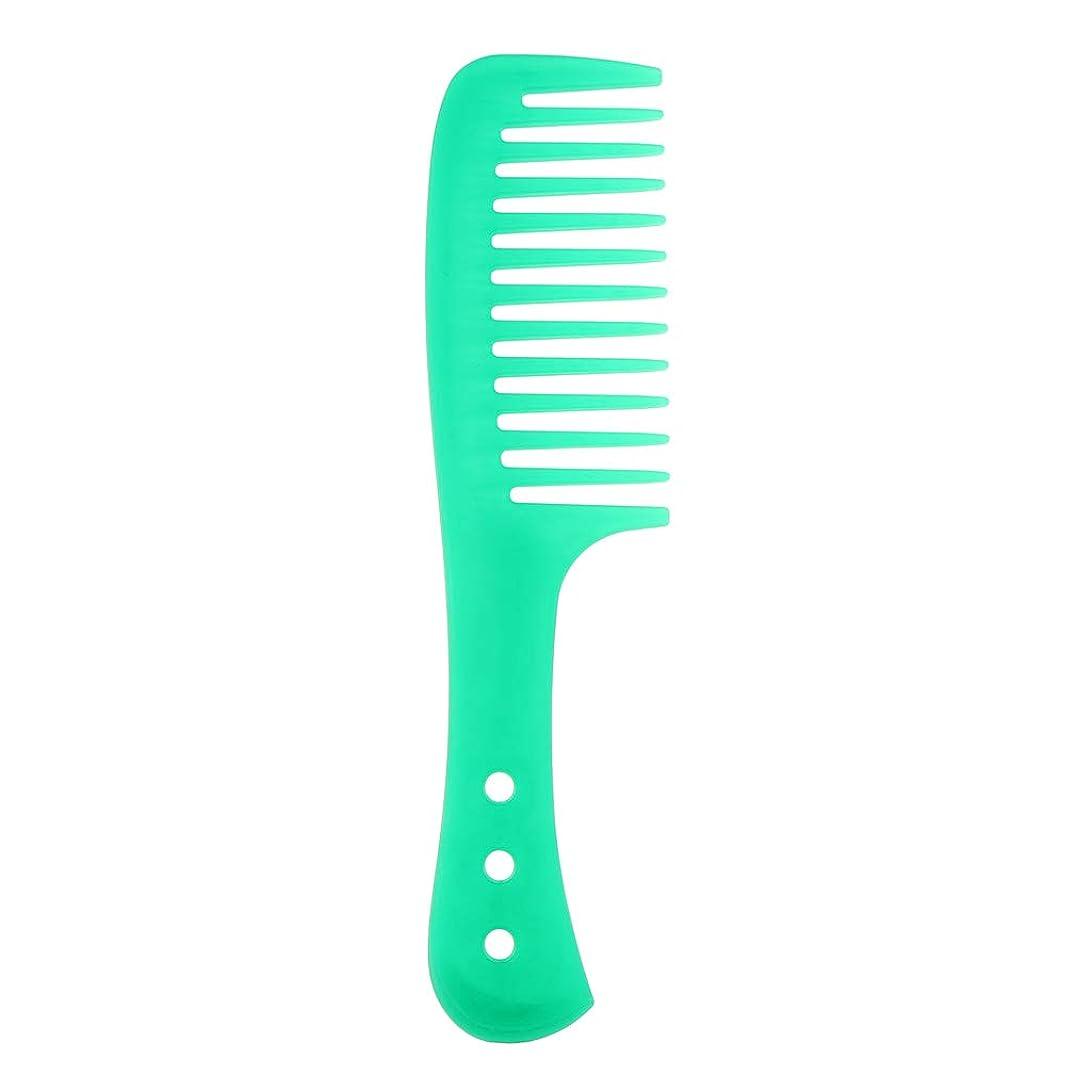 爆風ひまわり符号ポータブル理髪広い歯の櫛巻き毛のDetangler頭皮マッサージブラシ - 緑