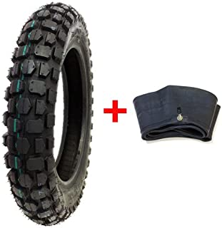 MMG Bundle Combo Knobby Tire with Inner Tube 3.00-10 Front or Rear Trail Off Road Dirt Bike Motocross Pit