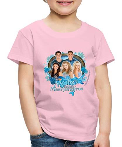 Mako Einfach Meerjungfrau Gruppe Kinder Premium T-Shirt, 122-128, Hellrosa