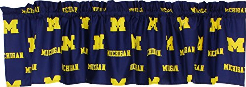 College Covers NCAA Curtain Valance, 84' x 15', Michigan Wolverines