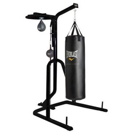 Three-Station Heavy Duty Punching Bag Stand by Everlast , 54.00 x 54.00 x 84.00 Inches