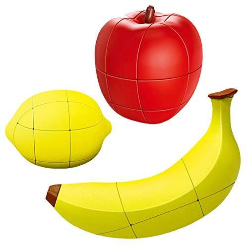 YYXLL Cubo Conjunto, Frutas Cubo Fanxin Fruta Cubo Mágico Cubo Mágico Conjunto De Limón Cubo/Cubo De Plátano/Cubos De Manzana, El Cubo Mágico Regalo De Los Cabritos,A