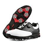 Zapatos de Golf Hombres Transpirable Cómodo Antideslizante Impermeable Microfibra Confort Invierno y Otoño Calzado Deportivo Equipo de Entrenamiento,Green,40