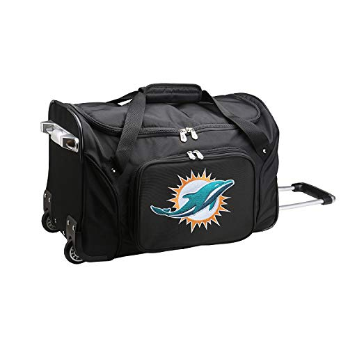 NFL Miami Dolphins Wheeled Duffel Bag, 22-inches