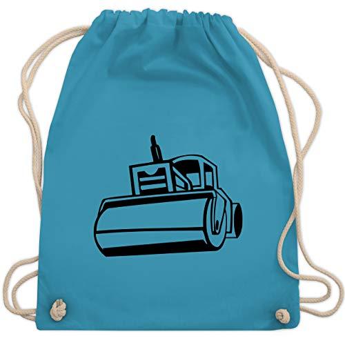 Shirtracer Andere Fahrzeuge - Dampfwalze - Unisize - Hellblau - Arbeiter - WM110 - Turnbeutel und Stoffbeutel aus Baumwolle