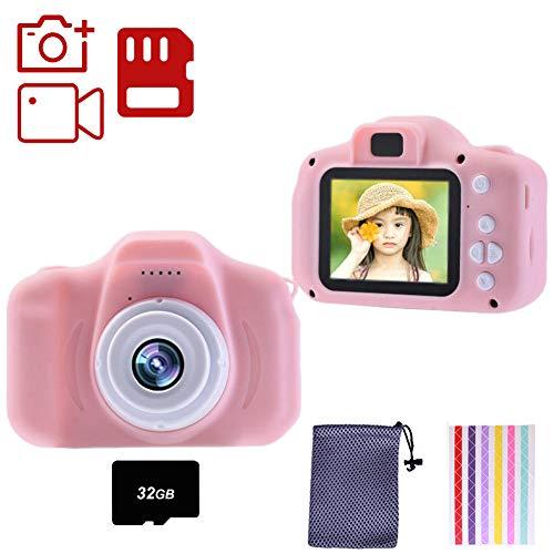 YUDOXN Set de Cámara de Fotos Digital para Niños con Juegos, Cámara Infantil con Tarjeta de Memoria Micro SD 32GB, Cámara Digital Video Cámara Infantil para Niños Regalos deCumpleaños, 1080P