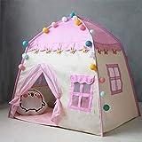 Easy-topbuy Prinzessin Schloss Kinder Spielen Zelt Spielhaus Für 3-4 Kinder, Indoor-Spielzeughaus...