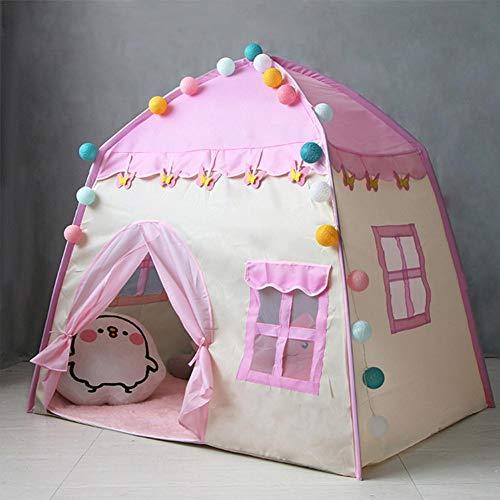 Easy-topbuy Prinzessin Schloss Kinder Spielen Zelt Spielhaus Für 3-4 Kinder, Indoor-Spielzeughaus Geburtstagsgeschenk Für Mädchen Jungen 130x100x130cm