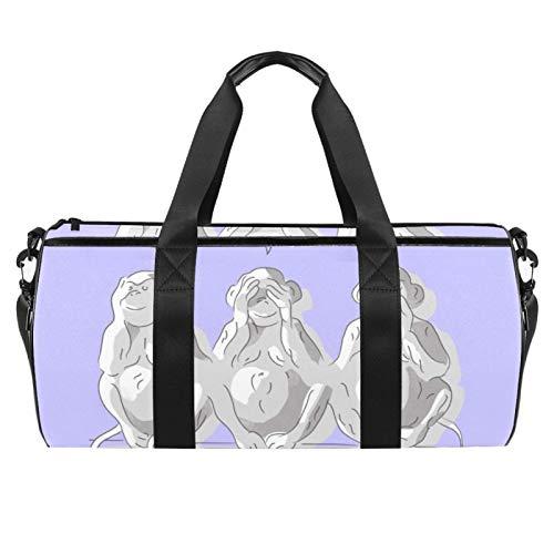 LAZEN Hombro Handy Sports Gym Bags Travel Duffle Totes Bag para Hombres Mujeres Mono