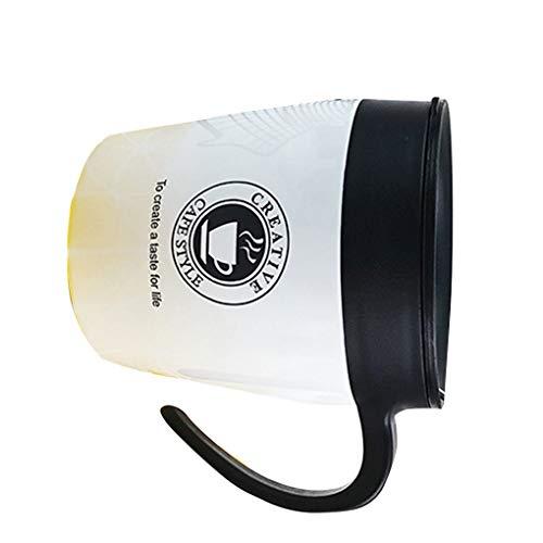 Fengyuanhong 330ml Edelstahl Thermal-Schale Kaffeetassen Mode Isolierung Wasserflasche Reise-Becher Isolierkannen Griff