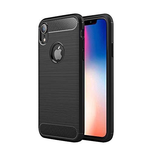 Kompatibel für iPhone XR Hülle Schwarz, Handyhülle für iPhone XR Schutzhülle Silikon Hülle - Schwarz
