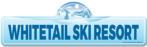 Whitetail Ski Resort Street Sign   Indoor/Outdoor   Skiing, Skier, Snowboarder, Décor for Ski Lodge, Cabin, Mountian House   SignMission Personalized Gift