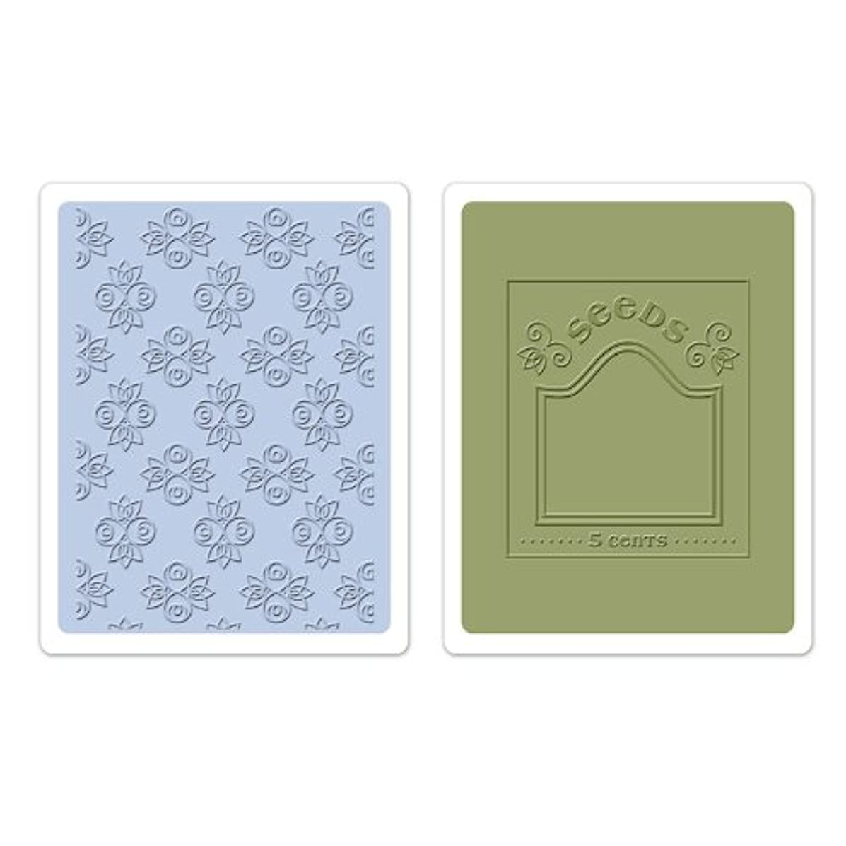 Sizzix Textured Impressions Embossing Folders 2PK - Rosebuds & Seed Packet Set by Eileen Hull
