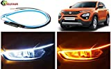 Selifaur - 2PCS 24Inch Ultrafine Waterproof Car DRL LED Daytime Running Lights White Turn Signal...