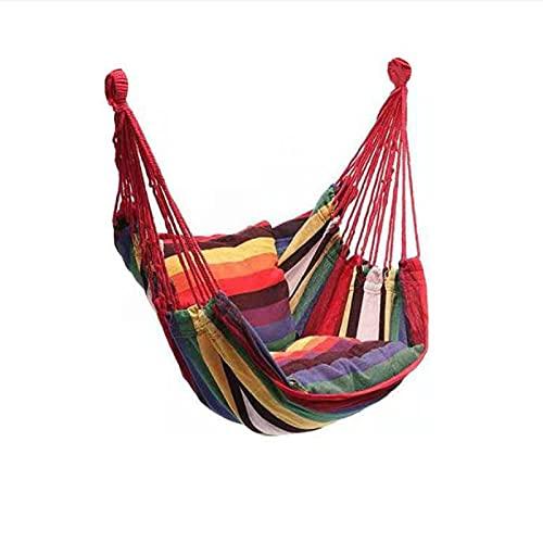 Aiong Hamaca, Silla Colgante de jardín Que Hace pivotar los Muebles de Interior al Aire Libre Hamaca Que cuelga la Silla de la Cuerda de la Silla del Columpio