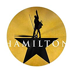 Musicals Hamilton Numeral Wall Clock Battery Operated Quartz Silent Round Clocks 10 Inch Hanging Clock for Bedroom,Dining Room,Office and Living Room