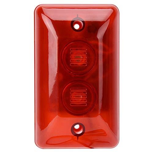 Sirena estroboscópica con cable 12V LED Flash, luz de señal de ingeniería, sistema de alarma de seguridad para el hogar (rojo)