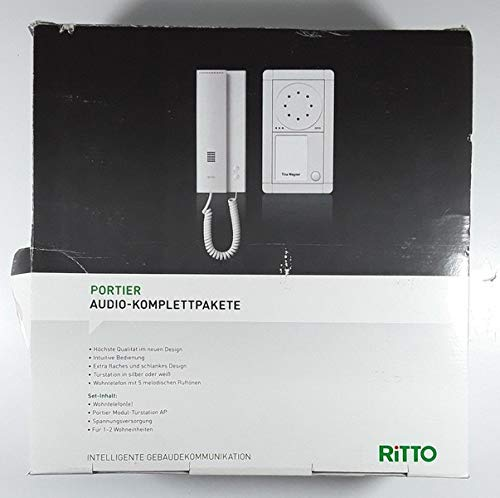 Ritto 1891220 Portier Audio Paket 2WE silber/weiß