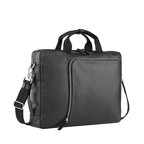 Picard Buddy valigetta in pelle con cerniera, porta pc, 2 manici, funzione plug-on tracolle riponibili - borsa business 31 x 42 x 10 cm (H/W/D) Uomini/Donne (4505)