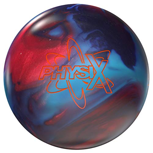 Storm PhysiX, Rot/Blau/Lila Hybrid Oberfläche, Reaktiv Bowlingkugel für Einsteiger und Turnierspieler - inklusive 100ml EMAX Ball-Reiniger Größe 14 LBS