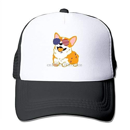 RQJOPE Gorra de béisbol Custom Corgi patriótico Gafas de Sol de Verano Lindas Gorras de Gorra de béisbol Ajustables para Hombres y Mujeres Gorra Deportiva Primavera Verano