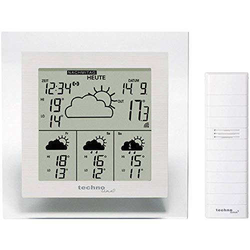 Technoline, WetterDirekt Wetterstation WD 4002 mit Innen- und Außentemperaturanzeige sowie Wettervorhersage für 4 Tage