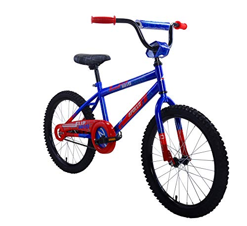 Apollo FlipSide 20 inch Kid's Bicycle, Ages 7 to 12, Height 54 - 66 inches, Blue/Red