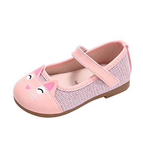 Zapatos de Cuero para Niñas Otoño Invierno 2018 Moda PAOLIAN Zapatos de Vestir para bebé Niñas Primeros Pasos Calzado recién Nacidos Bautizo Fiesta Gato Antideslizante 3 Meses -6 años
