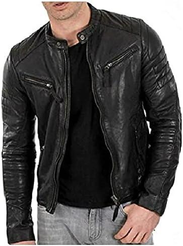 Slim Fit Black Cafe Racer Leather Jackets For Men   Mens Leather Jackets Genuine Motorcycle Leather Biker Jacket